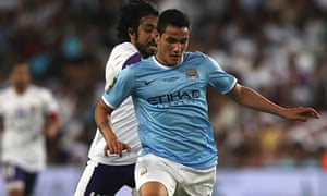 Marcos Lopes in action for Manchester City in May 2014