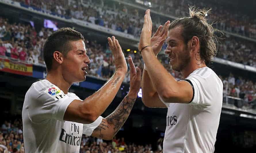 James Rodríguez and Gareth Bale