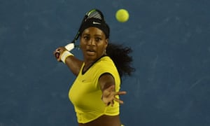 Serena Williams in action during her Australian Open semi-final victory over Agnieszka Radwanska