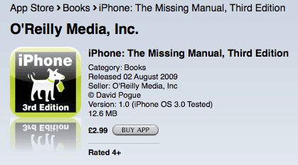 iPhone missing manual on iTunes App Store