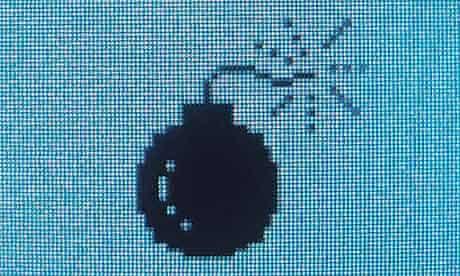 Cyber war bomb icon