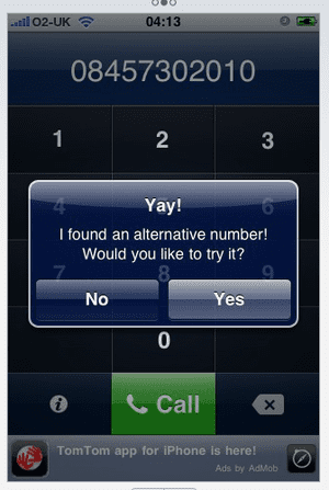 0870 app, iPhone app store