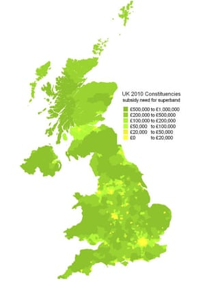 Broadband constutuencies map