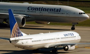 United and Continental Airlines aircraft