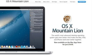 Apple releases OS X Mountain Lion   Technology   The Guardian