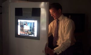 The first touch-screen internet fridge, launched by Electrolux