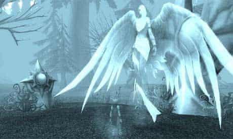 World of Warcraft, dead blood elf and spirit healer