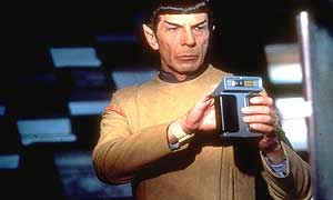 Mr Spock with his tricorder