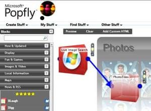 Microsoft Popfly screengrab