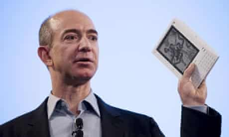 Jeff Bezos, founder and CEO of Amazon.com, introduces the Kindle electronic book device
