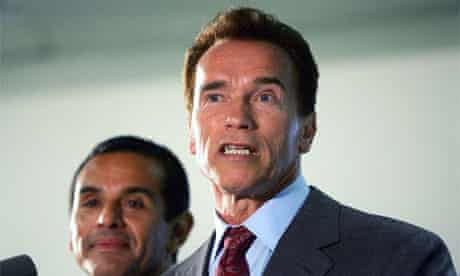 California Governor Arnold Schwarzenegger and Los Angeles Mayor Antonio Villaraigosa