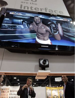 ZCam boxing videogame