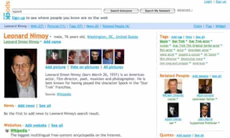 Spock website screen grab