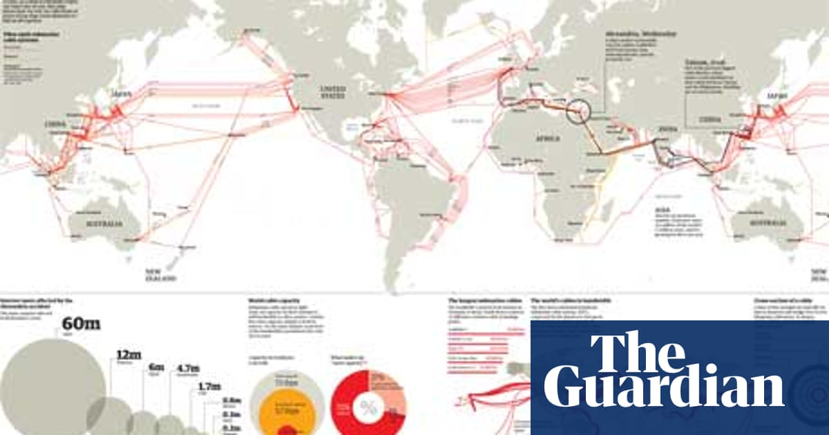 How one clumsy ship cut off the web for 75 million people