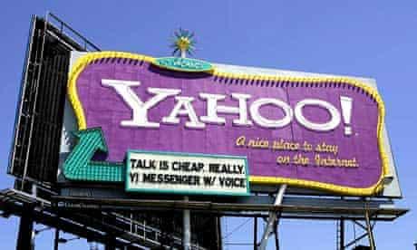 Yahoo billboard in San Francisco