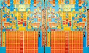 Intel 45nm quad core chip