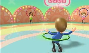 Screenshot from the Wii Fit Hula-Hoop game