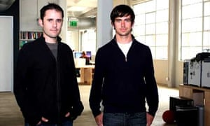 Twitter co-founders Evan Williams and Jack Dorsey