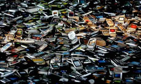 Discarded mobile phones