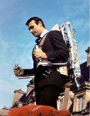 Jetpack: Sean Connery in Thunderball