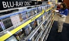 Blu-ray discs in a Best Buy store