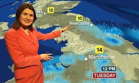 BBC weather map