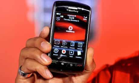 BlackBerry Storm touchscreen mobile phone