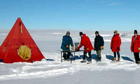 Staff at Casey scientific research base in Antarctica