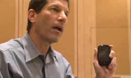 Palm's Jon Rubenstein with the Pre mobile phone