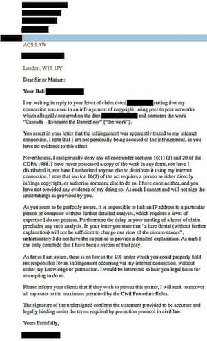 ACS letter