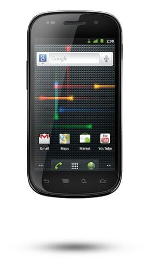 Google Nexus S phone running Gingerbread