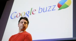 Google co-founder Sergey Brin at the launch of the company's new Buzz product