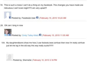 Comments by Facebook users at ReadWriteWeb.com