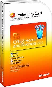 Office 2010 keycard