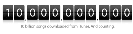 Ten billion songs sold on iTunes