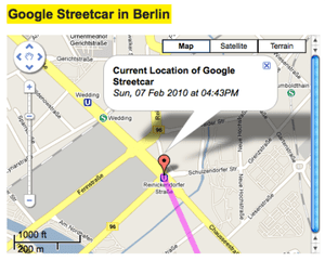 German artists attach GPS device to Google Street View car