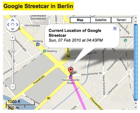 Google Street View car GPS
