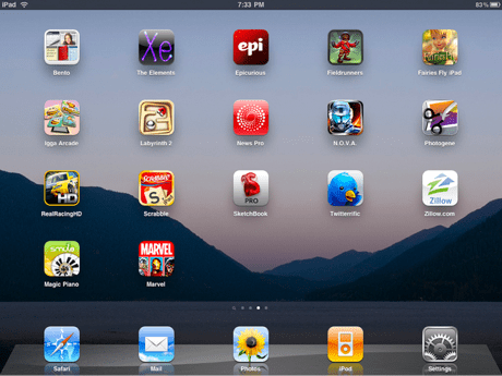 Stephen Fry's iPad screen