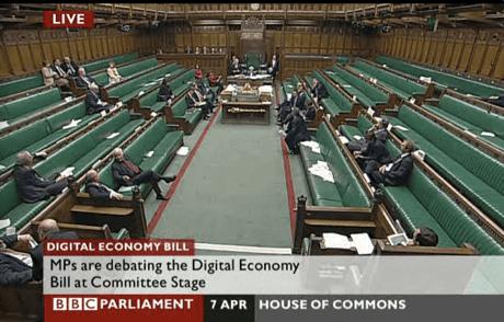 The Commons debates the Digital Economy bill, April 2010