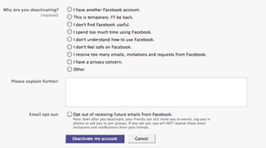 Facebook wants to know why you're going
