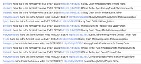 Twitter funniest video spam