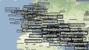 Trendsmap on the flotilla attack by Israel