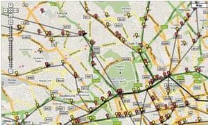 live underground train map