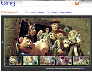 Bing adds entertainment