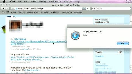 Twitter mouseover bug