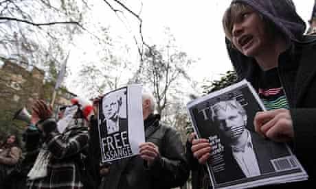 Wikileaks protest