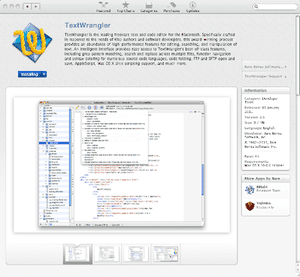 Textwrangler on the Mac App Store