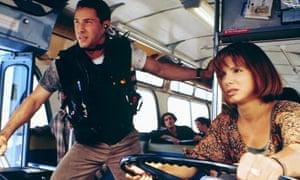 Speed: Keanu Reeves and Sandra Bullock