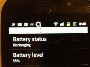 Android battery indicator 55%