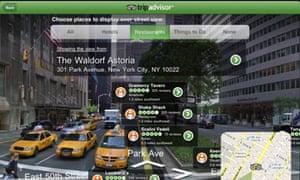 Tripadvisor augmented reality mobile app